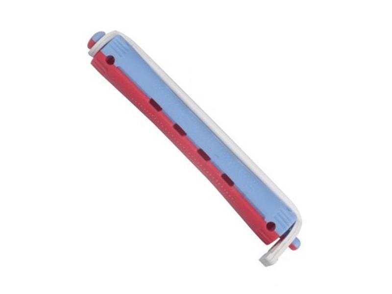 Bigudí 6mm. Rojo-azul 12 uds. - 00904