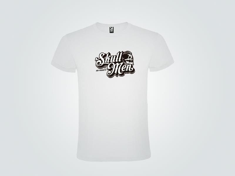 Camiseta Blanca Skull Men Talla L